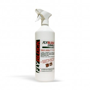 fly block spray - 1000 ml - antiparassitario repellente naturale per cani/animali