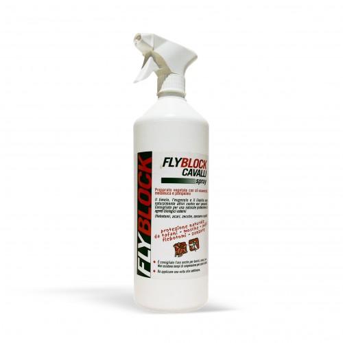 fly block spray - 1000 ml - antiparassitario repellente naturale per cani/animali