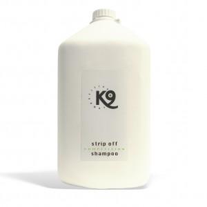 stripp off shampoo - 5,7 lt - k9 competition - libero pelo e manto cane da accumuli e residui