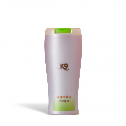 Copperness shampoo k9 competition 300 ml - toelettatura cani, neutralizza, decolorando, e tira fuori il colore rosso-marrone naturale del pelo